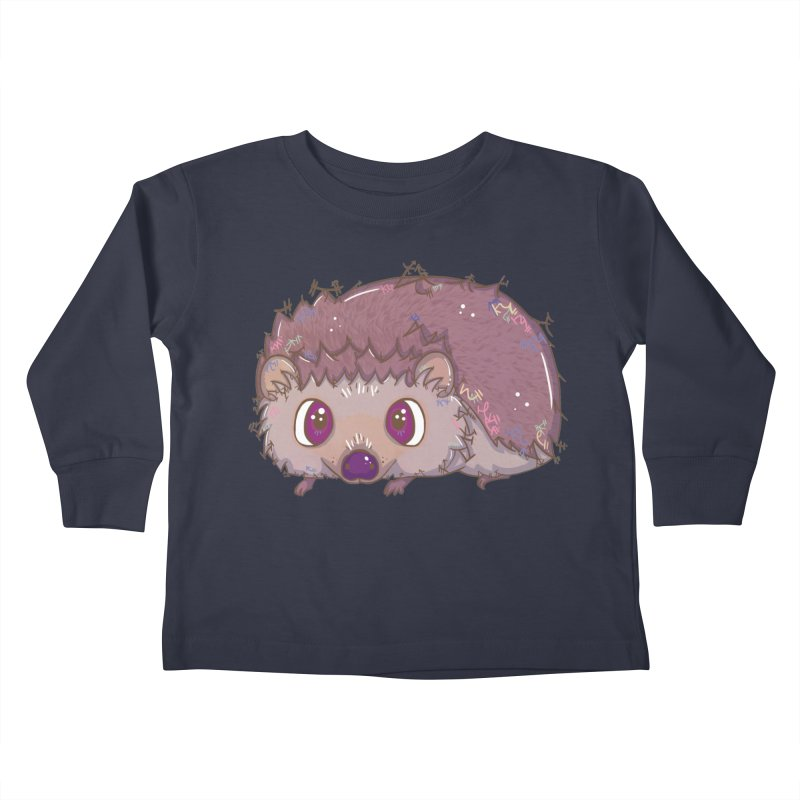 Happiest Little Hedgehog Kids Toddler Longsleeve T-Shirt by VanillaKirsty's Artist Shop