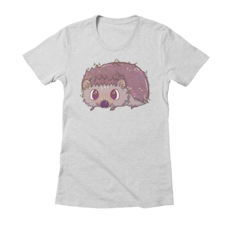 Happiest Little Hedgehog Women's Fitted T-Shirt by VanillaKirsty's Artist Shop