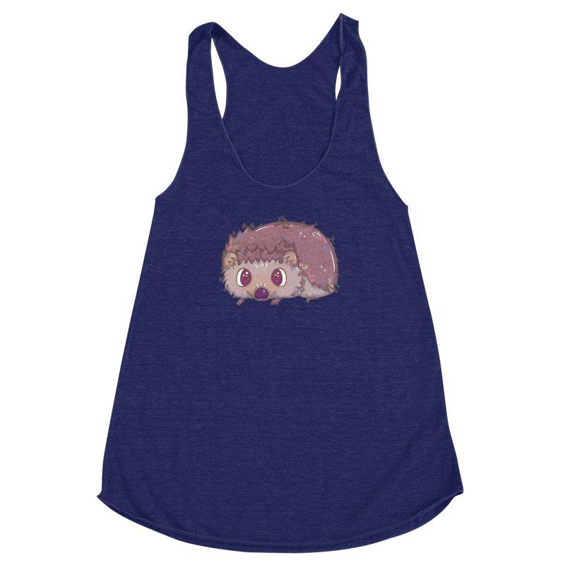 Happiest Little Hedgehog Women's Racerback Triblend Tank by VanillaKirsty's Artist Shop