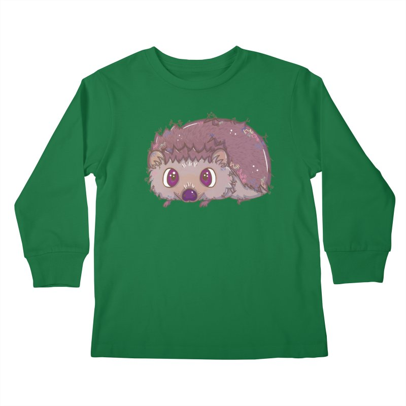 Happiest Little Hedgehog Kids Longsleeve T-Shirt by VanillaKirsty's Artist Shop