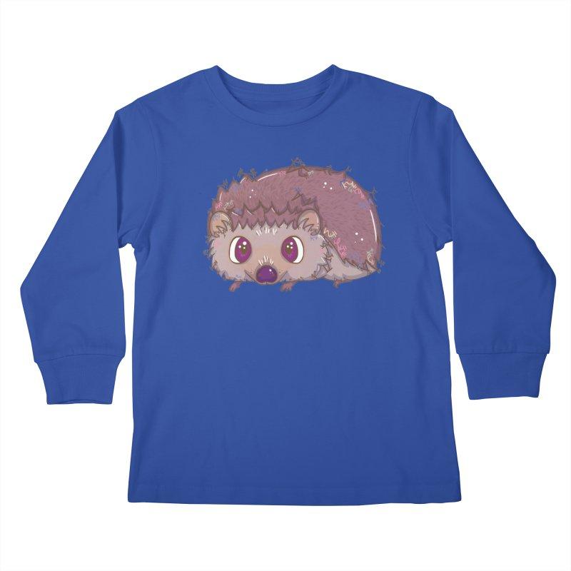 Happiest Little Hedgehog Kids Longsleeve T-Shirt by VanillaKirsty's Artist Shop