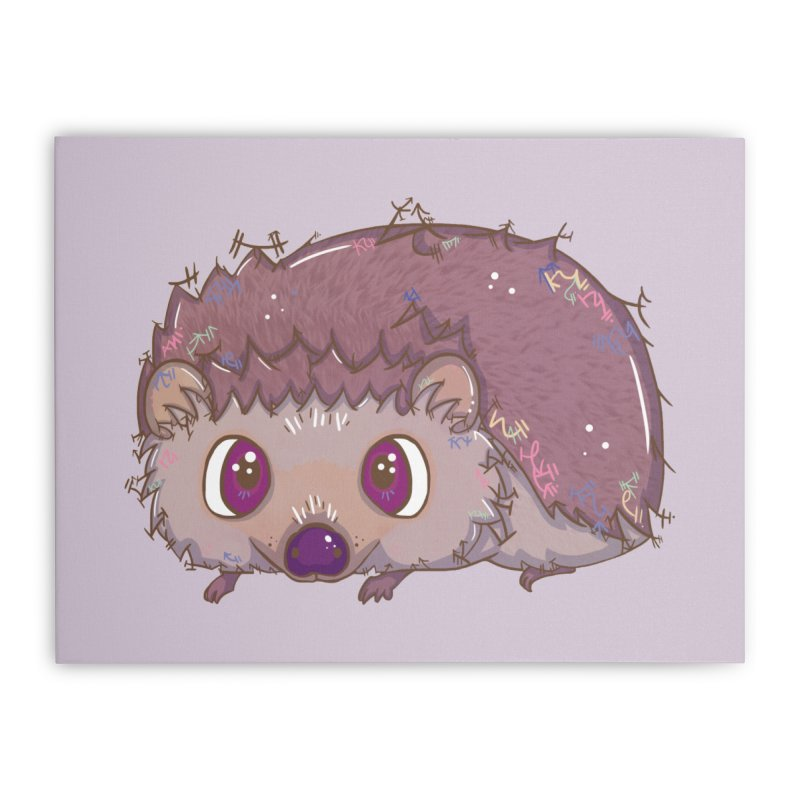 Happiest Little Hedgehog Home Stretched Canvas by VanillaKirsty's Artist Shop