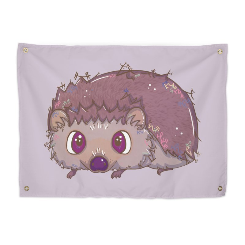 Happiest Little Hedgehog Home Tapestry by VanillaKirsty's Artist Shop