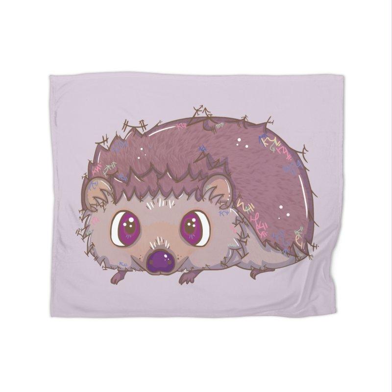 Happiest Little Hedgehog Home Blanket by VanillaKirsty's Artist Shop