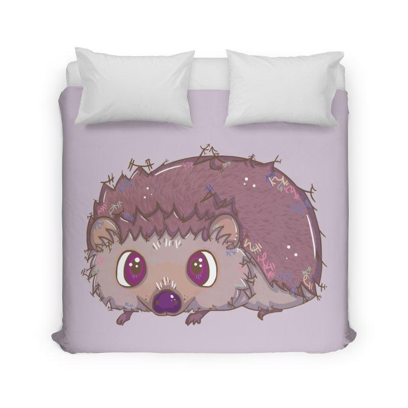 Happiest Little Hedgehog Home Duvet by VanillaKirsty's Artist Shop