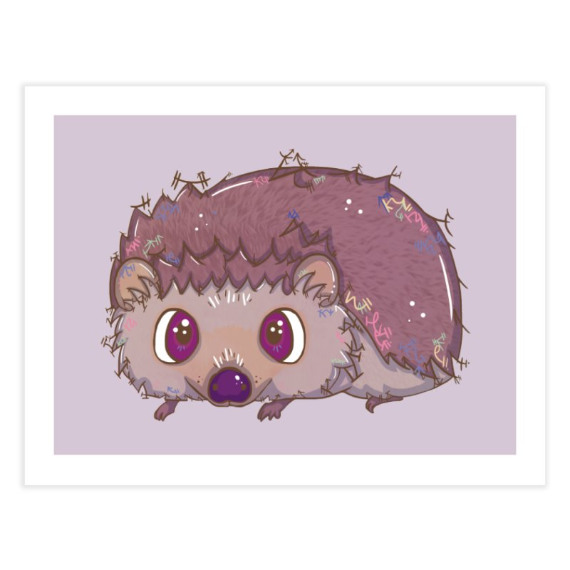 Happiest Little Hedgehog Home Fine Art Print by VanillaKirsty's Artist Shop