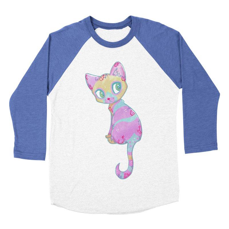 Mystical Little Kitty Women's Baseball Triblend T-Shirt by VanillaKirsty's Artist Shop