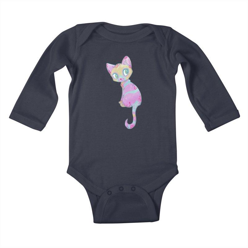 Mystical Little Kitty Kids Baby Longsleeve Bodysuit by VanillaKirsty's Artist Shop