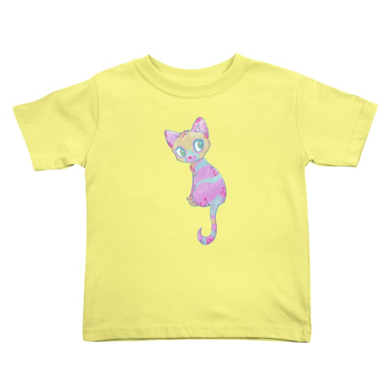Mystical Little Kitty Kids Toddler T-Shirt by VanillaKirsty's Artist Shop