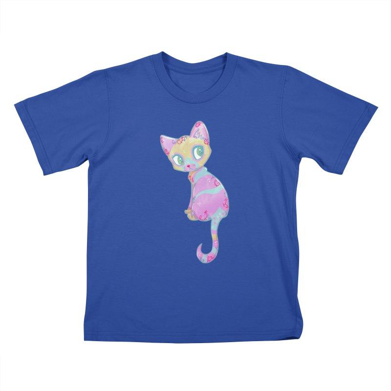 Mystical Little Kitty Kids T-shirt by VanillaKirsty's Artist Shop