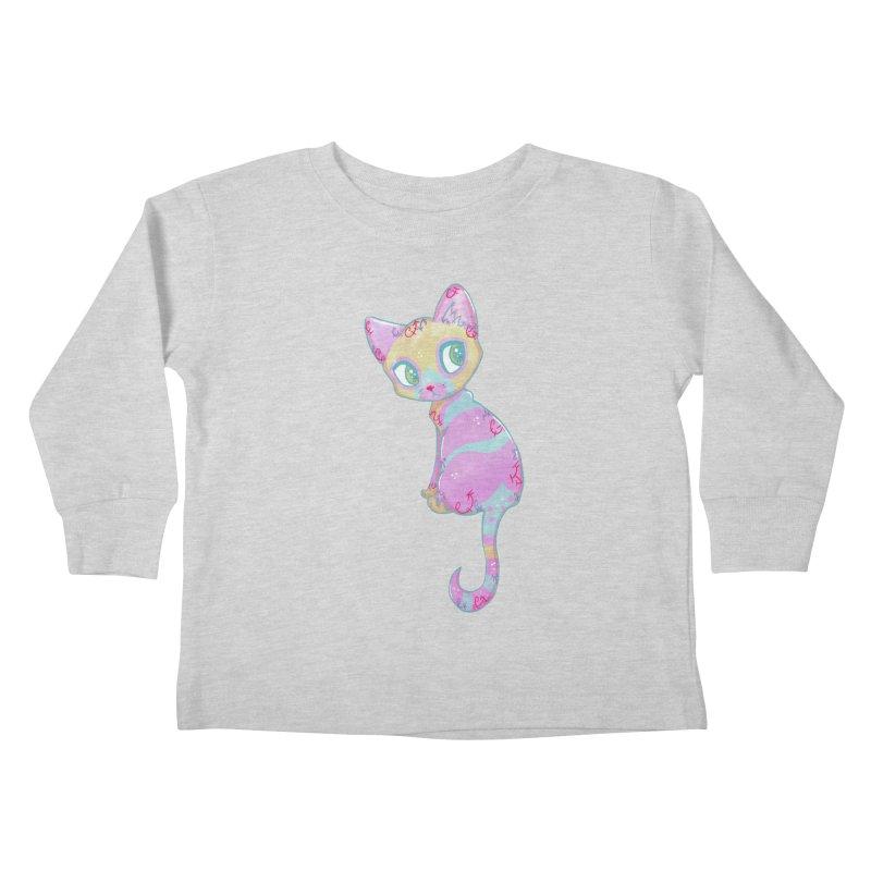 Mystical Little Kitty Kids Toddler Longsleeve T-Shirt by VanillaKirsty's Artist Shop