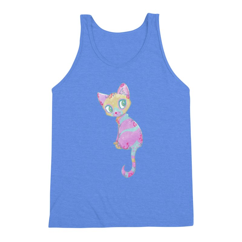 Mystical Little Kitty Men's Triblend Tank by VanillaKirsty's Artist Shop