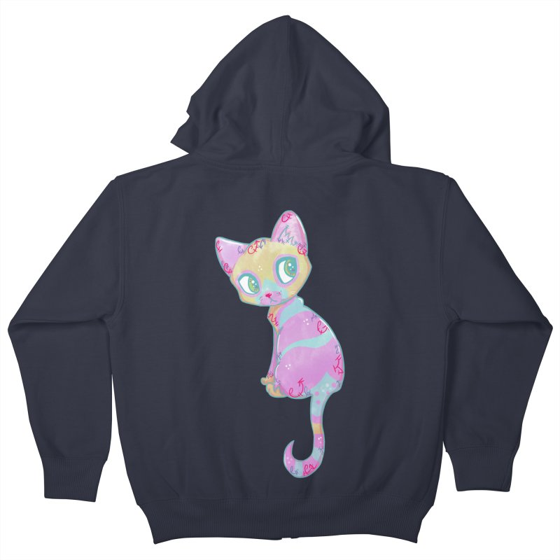 Mystical Little Kitty Kids Zip-Up Hoody by VanillaKirsty's Artist Shop
