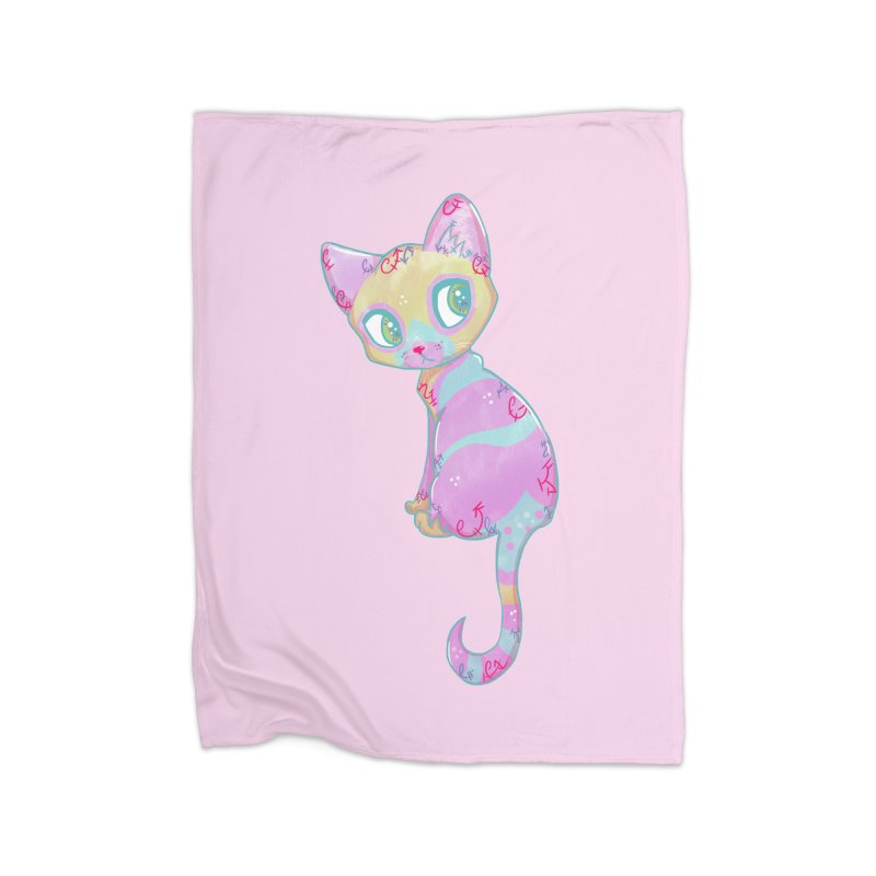 Mystical Little Kitty Home Blanket by VanillaKirsty's Artist Shop