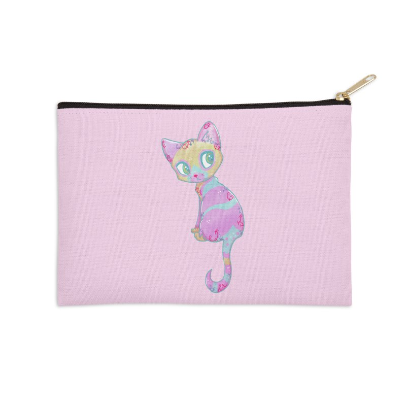 Mystical Little Kitty Accessories Zip Pouch by VanillaKirsty's Artist Shop