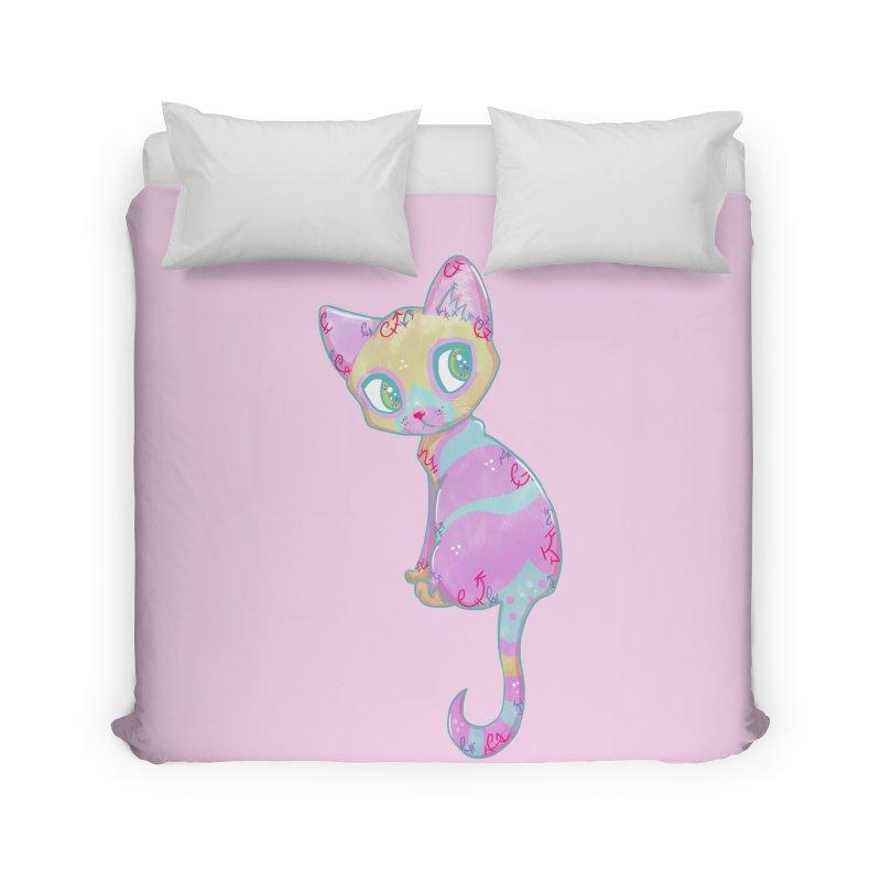 Mystical Little Kitty Home Duvet by VanillaKirsty's Artist Shop