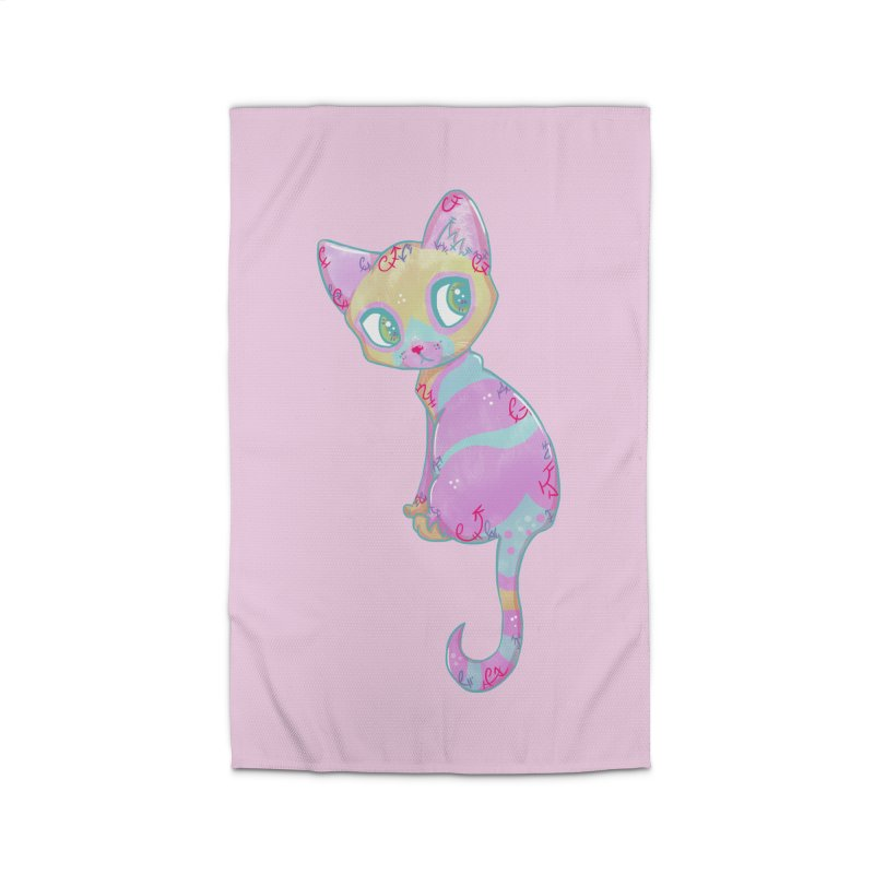 Mystical Little Kitty Home Rug by VanillaKirsty's Artist Shop