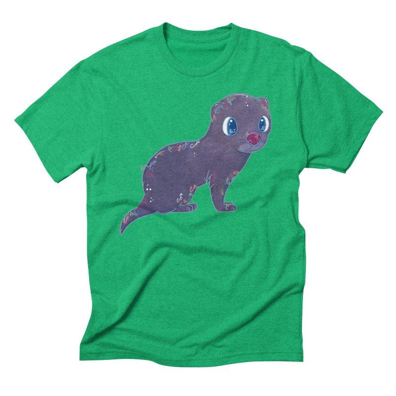 Mini Mink  Men's Triblend T-shirt by VanillaKirsty's Artist Shop