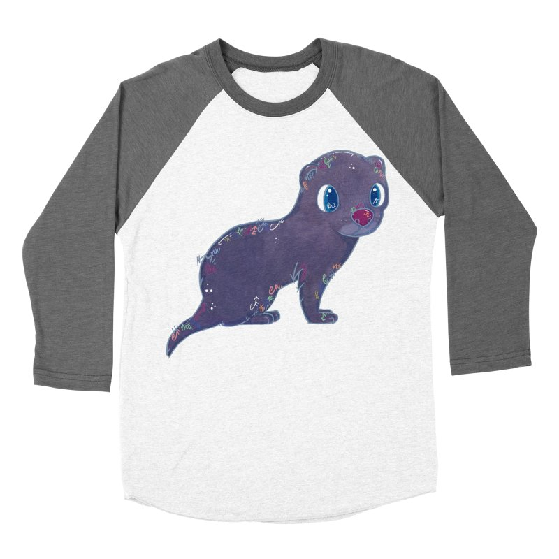 Mini Mink  Women's Baseball Triblend T-Shirt by VanillaKirsty's Artist Shop