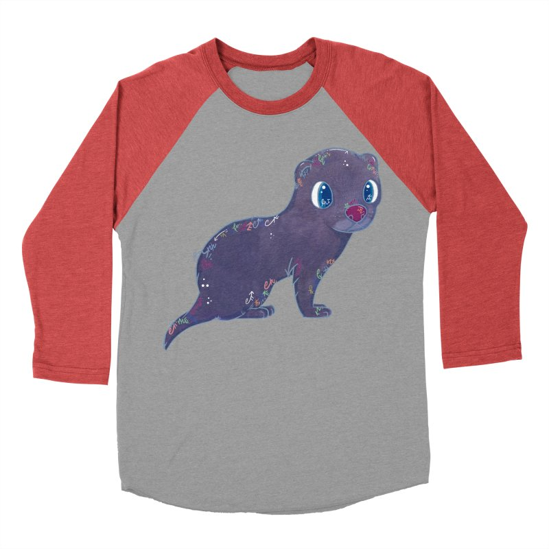 Mini Mink  Men's Baseball Triblend T-Shirt by VanillaKirsty's Artist Shop