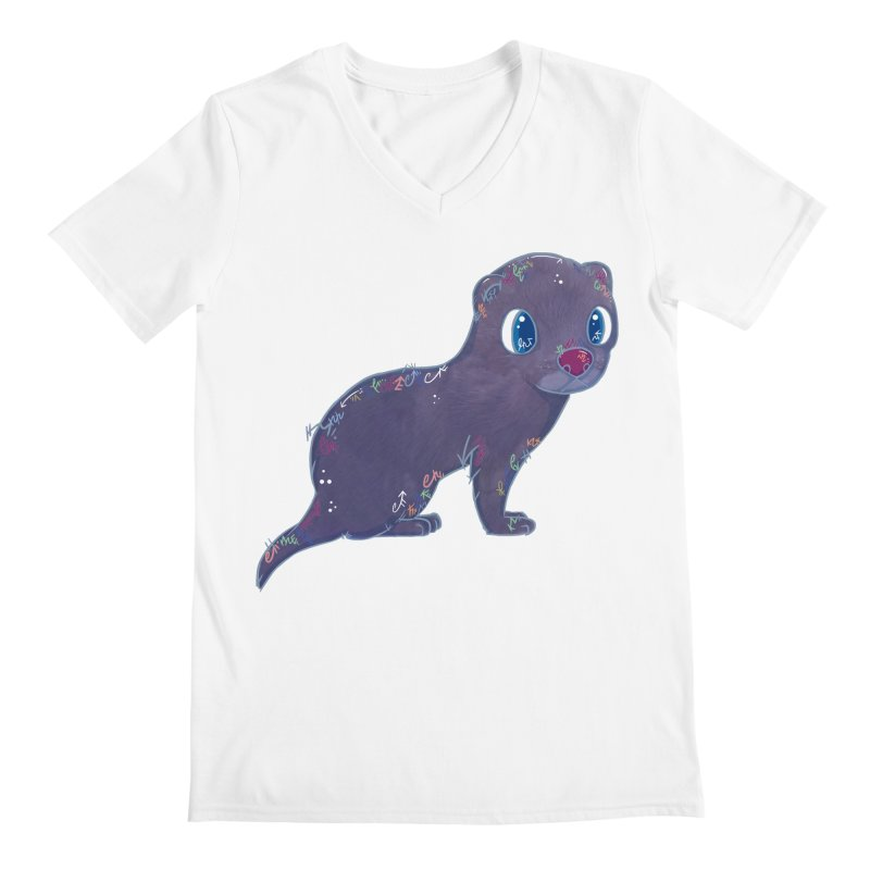 Mini Mink  Men's V-Neck by VanillaKirsty's Artist Shop