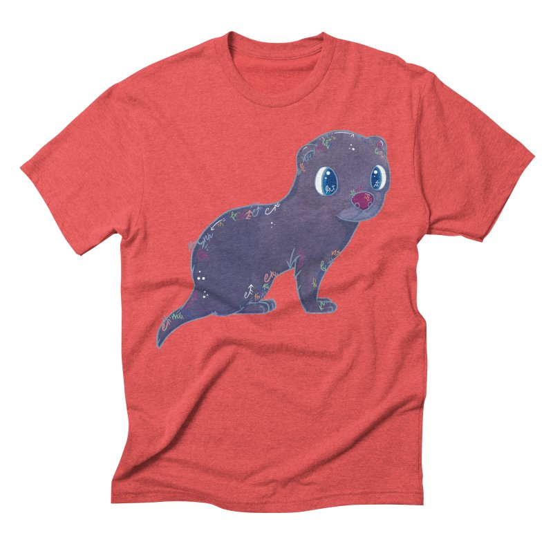 Mini Mink  Men's Triblend T-shirt by VanillaKirsty's Artist Shop