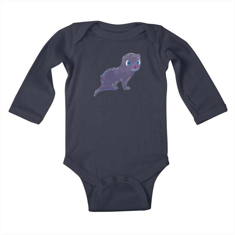 Mini Mink  Kids Baby Longsleeve Bodysuit by VanillaKirsty's Artist Shop