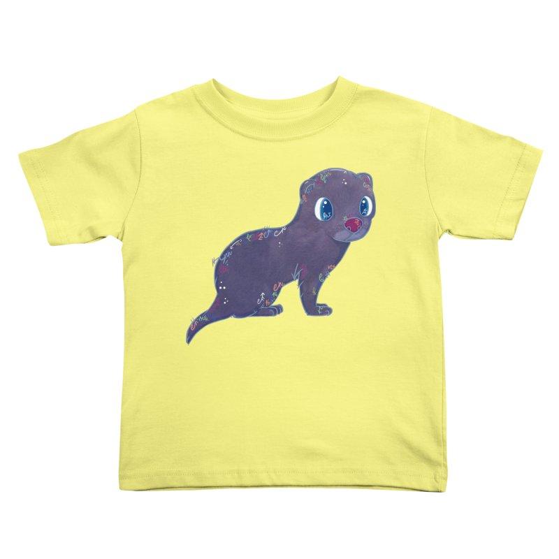 Mini Mink  Kids Toddler T-Shirt by VanillaKirsty's Artist Shop