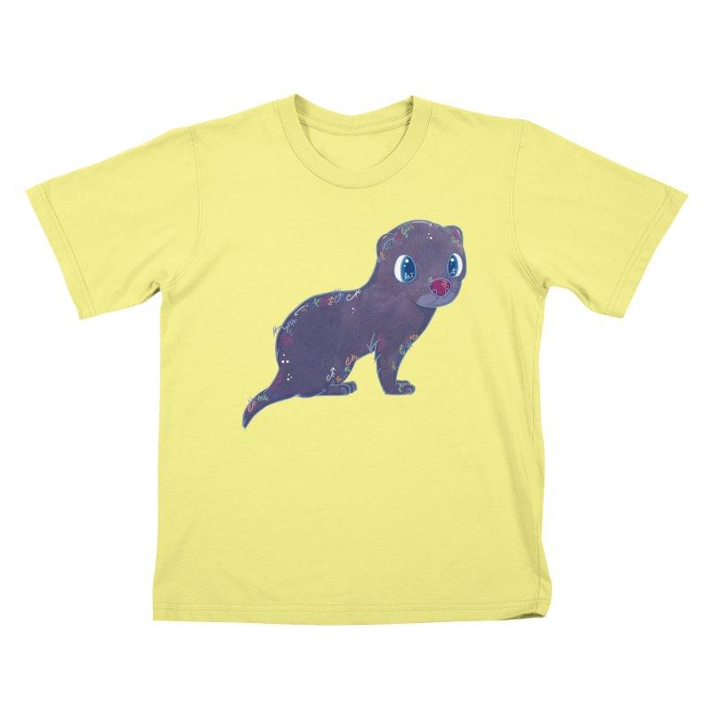 Mini Mink  Kids T-shirt by VanillaKirsty's Artist Shop