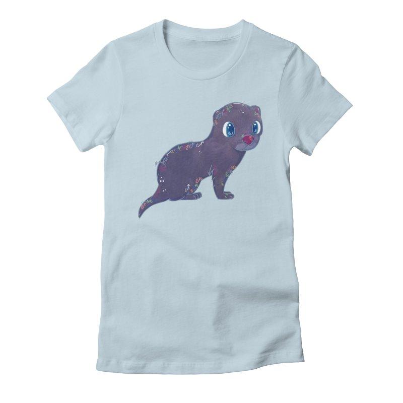 Mini Mink  Women's Fitted T-Shirt by VanillaKirsty's Artist Shop