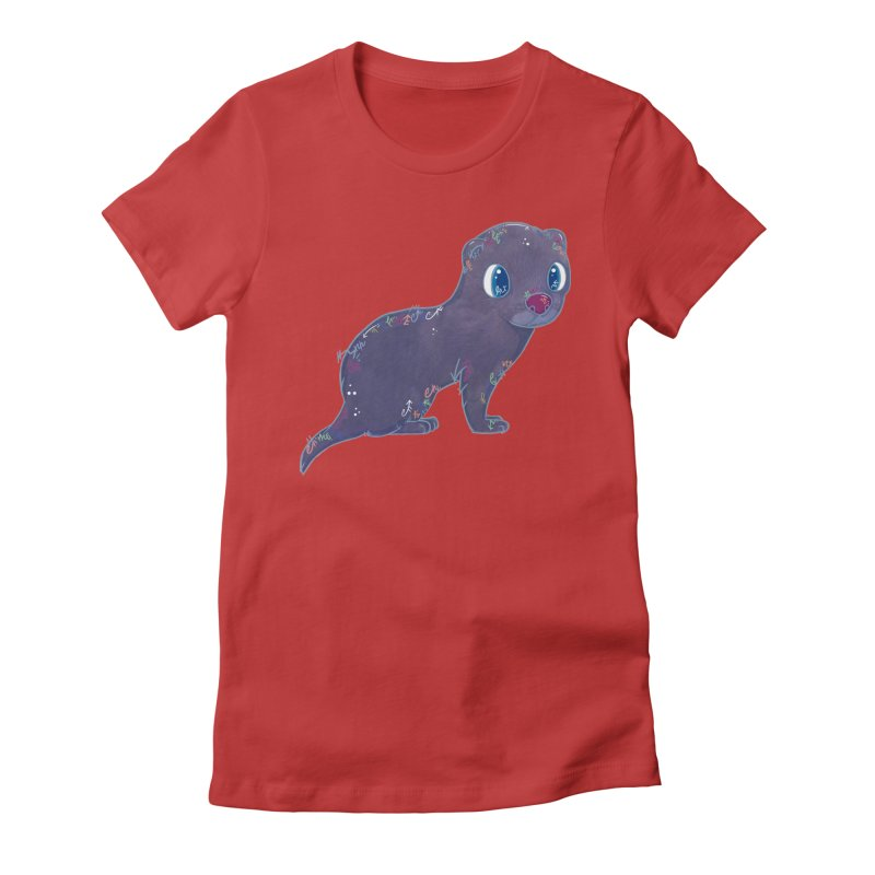 Mini Mink  Women's Fitted T-Shirt by VanillaKirsty's Artist Shop
