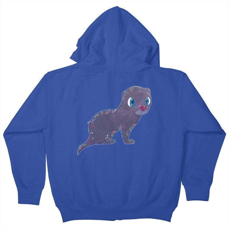 Mini Mink  Kids Zip-Up Hoody by VanillaKirsty's Artist Shop