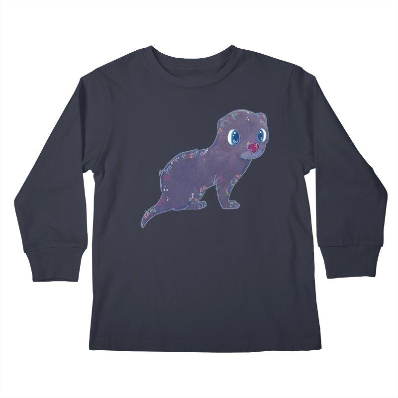 Mini Mink  Kids Longsleeve T-Shirt by VanillaKirsty's Artist Shop