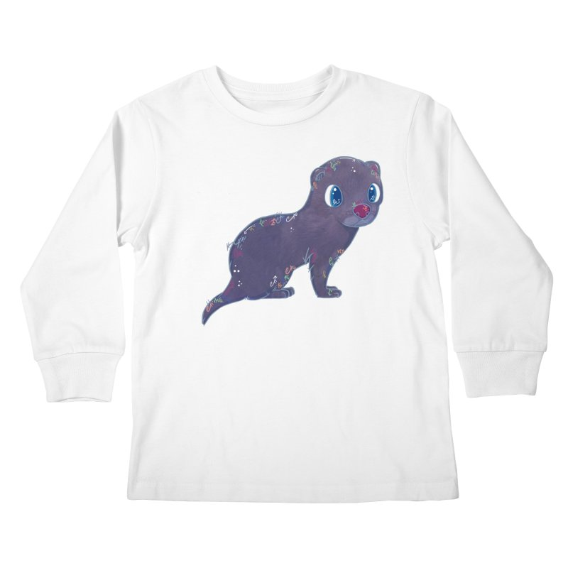 Mini Mink  Kids Longsleeve T-Shirt by VanillaKirsty's Artist Shop