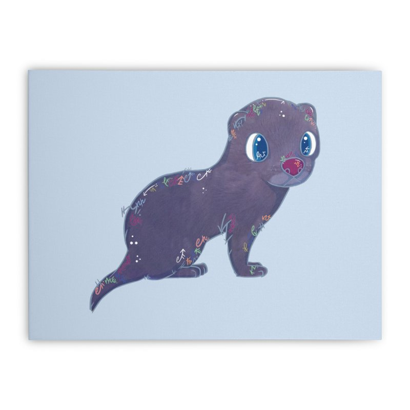 Mini Mink  Home Stretched Canvas by VanillaKirsty's Artist Shop