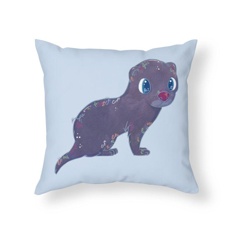Mini Mink  Home Throw Pillow by VanillaKirsty's Artist Shop