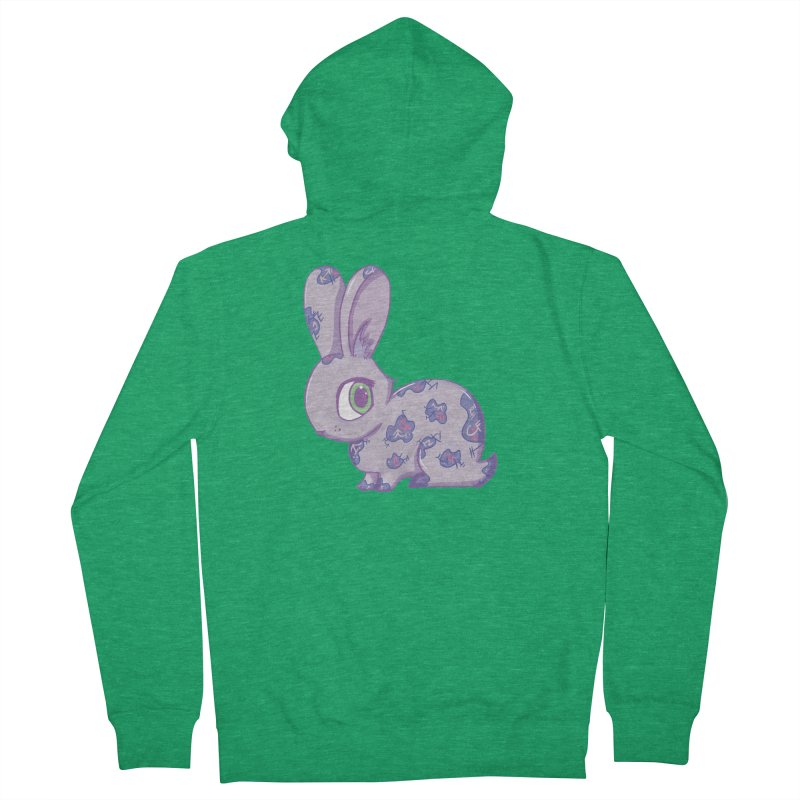 Brave Little Bunny Women's Zip-Up Hoody by VanillaKirsty's Artist Shop