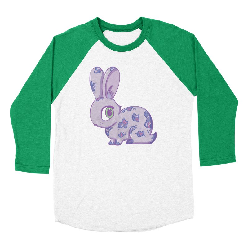 Brave Little Bunny Men's Baseball Triblend T-Shirt by VanillaKirsty's Artist Shop