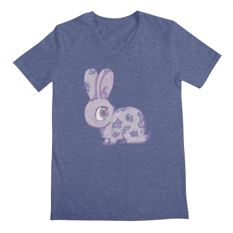Brave Little Bunny Men's V-Neck by VanillaKirsty's Artist Shop