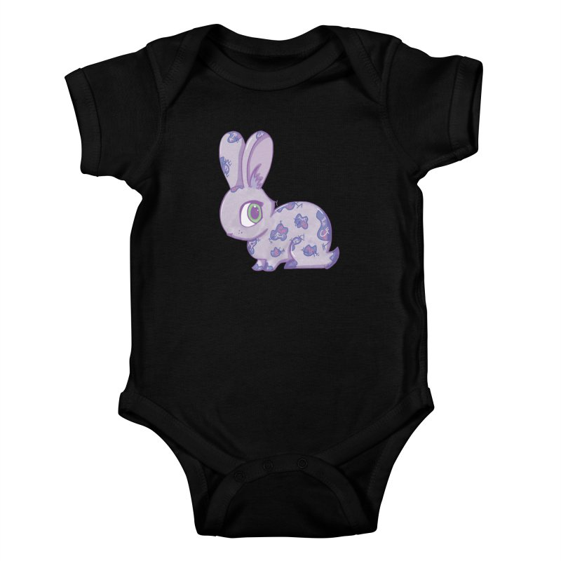Brave Little Bunny Kids Baby Bodysuit by VanillaKirsty's Artist Shop