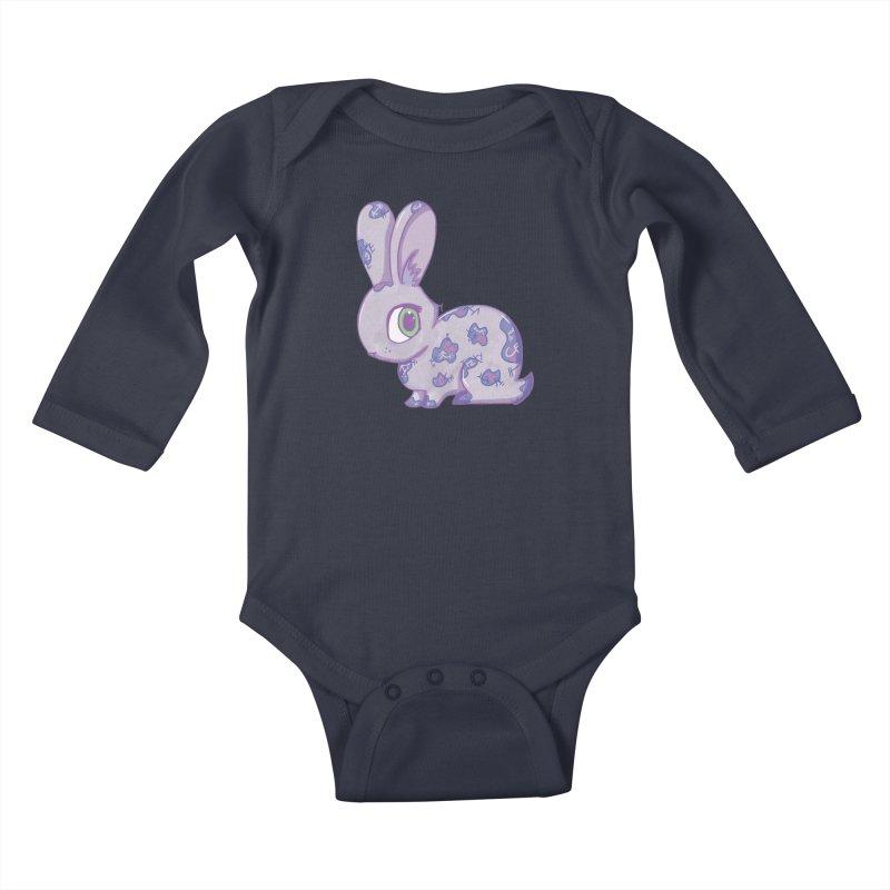 Brave Little Bunny Kids Baby Longsleeve Bodysuit by VanillaKirsty's Artist Shop