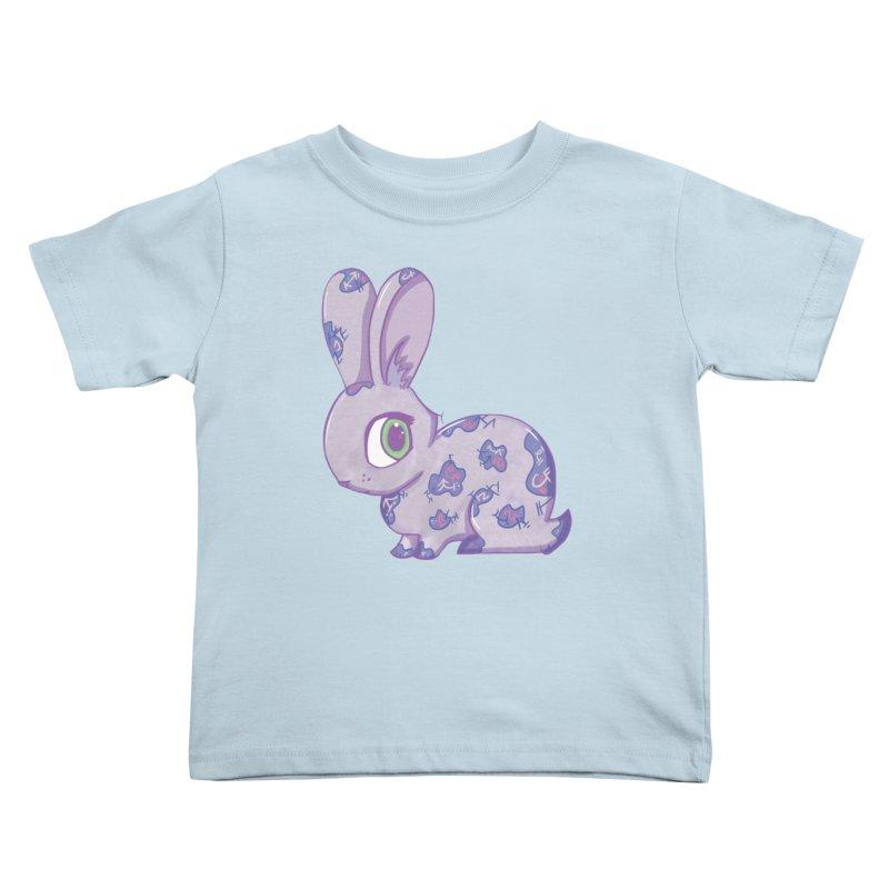 Brave Little Bunny Kids Toddler T-Shirt by VanillaKirsty's Artist Shop