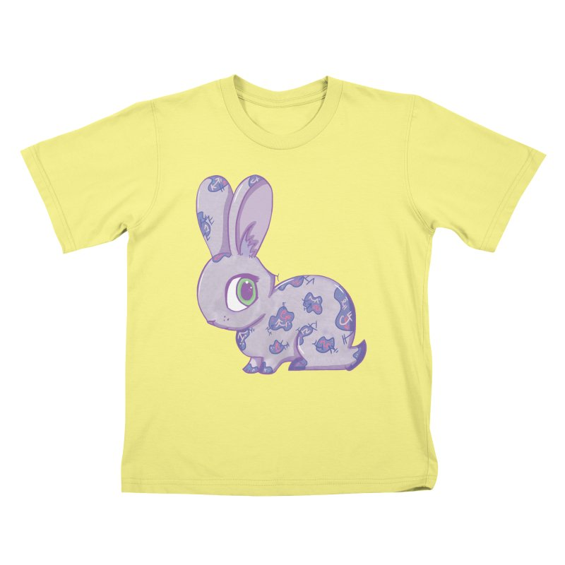 Brave Little Bunny Kids T-shirt by VanillaKirsty's Artist Shop