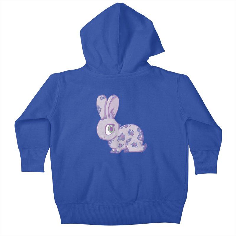 Brave Little Bunny Kids Baby Zip-Up Hoody by VanillaKirsty's Artist Shop