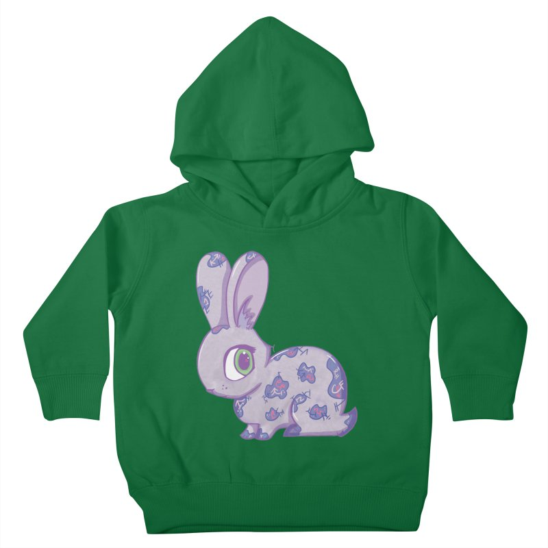 Brave Little Bunny Kids Toddler Pullover Hoody by VanillaKirsty's Artist Shop