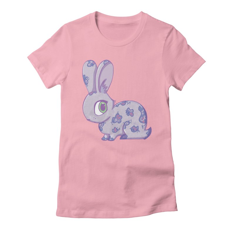 Brave Little Bunny Women's Fitted T-Shirt by VanillaKirsty's Artist Shop