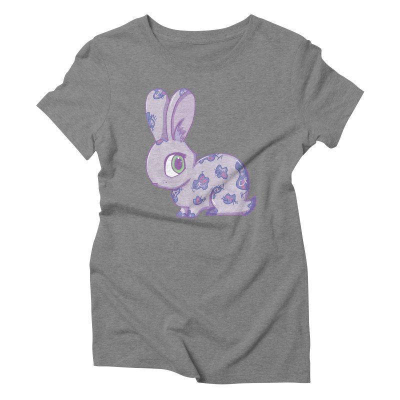 Brave Little Bunny Women's Triblend T-shirt by VanillaKirsty's Artist Shop