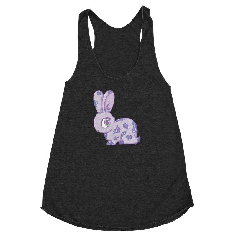 Brave Little Bunny Women's Racerback Triblend Tank by VanillaKirsty's Artist Shop