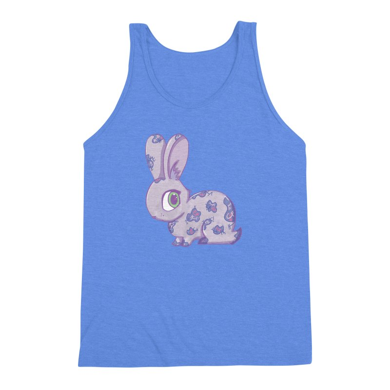 Brave Little Bunny Men's Triblend Tank by VanillaKirsty's Artist Shop