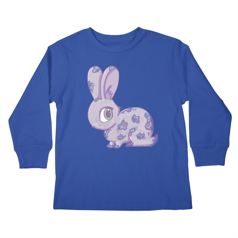 Brave Little Bunny Kids Longsleeve T-Shirt by VanillaKirsty's Artist Shop
